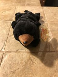 Ty Beanie Baby- Blackie The Bear Rare 1st Generation 1993 Excellent Condition