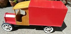 Vintage Wooden Toy Lorry / Truck