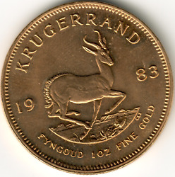 1983 1 Oz Uncirculated South African Gold Krugerrand