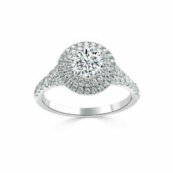 Real Diamond Wedding Rings For Women Round Cut 1.40 Ct 950 Platinum Size 5 6.5 8