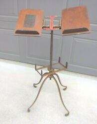 Antique Noyes Aermotor Cast Iron Dictionary/bible/book Stand 1880's