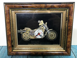 Harley Davidson Picture/picture Clock - Collins Of London Hand Made Original