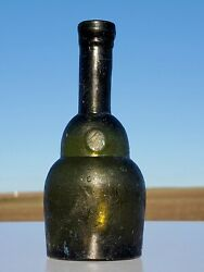Poison Bottle From The Czars Era.open Pontil 3,85 In. 1800's