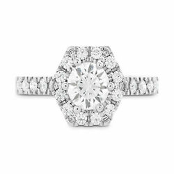 1.20 Ct Natural Diamond Women Engagement Ring Solid 950 Platinum Rings Size 9 11