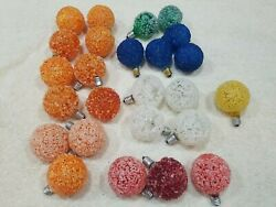 25 Vintage Assorted Christmas Bulb's Lighted Ice Snowball Frosted Collectables
