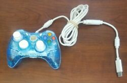 Pdp Rock Candy Xbox 360 Wired Controller Blue 037-010/ Tested
