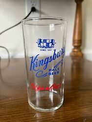 Vtg Kingsbury Pale Beer Shell Glass Fit For A King 8 Oz 4 3/4 Tall Excellent