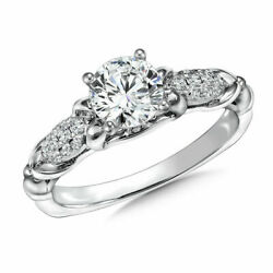 Christmas 0.90 Ct Real Diamond Anniversary Rings Solid 950 Platinum Ring Size 6