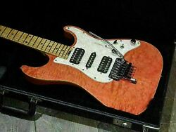 Schecter Ex-v-22-ctm/fd Used 2003 Ash+quilted-maple Body See Thru Pink Hardcase