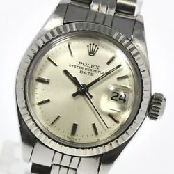 Rolex Oyster Perpetual Date 6917 Cal.2030 Silver Dial Automatic Ladies_621550