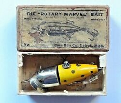 Antique Rotary-marvel Case Bait Company Of Detroit Michigan Fishing Lure