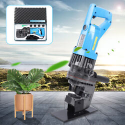 10t Electric Hydraulic Knockout Hole Punch 5 Dies Metal Puncher 23s 900w 110v