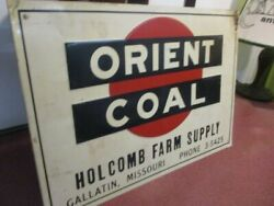 Vintage Orient Coal Tin Metal Advertising Single Sided Sign