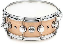 Dw Collectorand039s Series Supersonic Snare Drum - 5.5 X 14 Natural Satin Oil