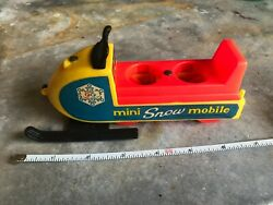 Mini Snow Mobile Snowmobile Vintage Fisher Price Little People 1970 Play Family