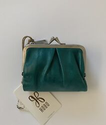 NWT Hobo Peg Leather Wallet RP $78 BLUEGRASS $59.95