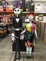 🎃🎃 Jack Skellingtion And Sally Life Size Deluxe Animitronic Character🎃