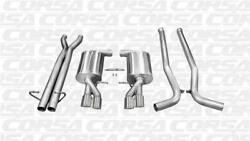 Corsa Polished Sport 2.5 Cat-back Dual Exhaust With Twin Tips For 05-09 Audi B7