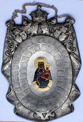 Poland, Large Plaque With The Image Of Our Lady Of Częstochowa. Hand-made, Big
