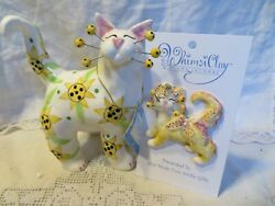 quot;Sunflowerquot; very RARE WhimsiClay Cat free matching pin $12.50 value