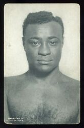 1923 Boxing Exhibit Prototype 1928 Blank Back Harry Willsand039 Fighting Face Variety