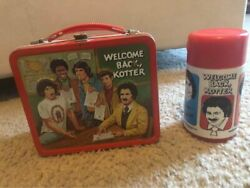 Vintage 1970s Metal Lunch Box Welcome Back Kotter With Thermos