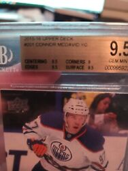 Connor Mcdavid Rookie Card Upper Deck Young Guns Graded Bgs 9.5