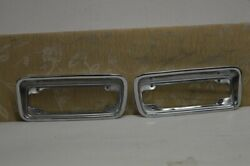 Pair Nos Toyota トヨタ Crown Toyopet Station Wagon 1969 Front Signal Lamp Rims