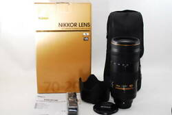 【 Mint In Box】 Nikon Af-s Nikkor 70-200mm F/2.8e Fl Ed Vr Lens By Dhl From Japan