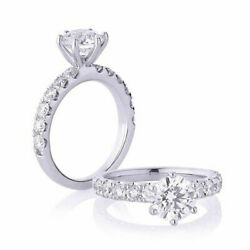 0.74 Ct Real Round Diamond Engagement Ring For Sale Solid 950 Platinum Size 6 8