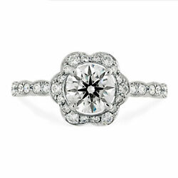 1.10 Ct Naturel Fianandccedilailles Diamant Proposition Bague Solid 950 Platine Taille 7
