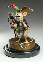 Bronze Mouse Jester Statue Limited Edition 5/95
