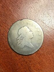 1795 Flowing Hair Half Dollar Good O-124 Star In Bust Variety Great Type Coin