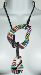 Sobral Pop Optical Art Namibia Lariat Style Artist Made Necklace