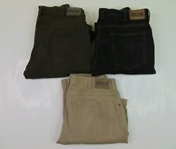 Lot 3 Duluth Trading Men 36 X 34 Work Pants Fire Hose Canvas Jeans Utility Brown