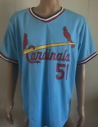 St. Louis Cardinals Jersey Adult Willie Mcgee 51 Retro Pullover 2013 Match Up