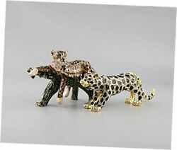Leopard Jewelry Trinket Boxes Hinged Gift For Women And Girls