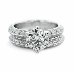 Beautiful 1.60 Ct Real Diamond Engagement Ring Solid 950 Platinum Band Size 8 9