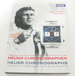 Heuer Watch Chronographs By Arno Haslinger Hardcover Book Autavia Silverstone