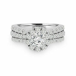 1.40 Ct Real Diamond Engagement Ring Solid 950 Platinum Ladies Rings Size 6 7 8