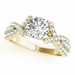 Natural 1ct Diamond Solitaire Ring For Valentines Gift 14k Yellow Gold 4 5 6