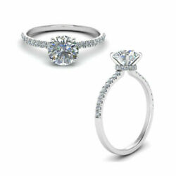 0.85 Ct Natural Round Diamond Women Engagement Rings Solid 950 Platinum Size 6 8