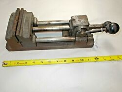 Vtg Heinrich Style Drill Press Vise 4 Wide Jaws Opens To 4-5/8 Weighs 17 Lb.