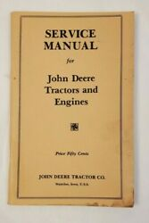 Vintage John Deere Service Manual For Tractors And Engines 1930s