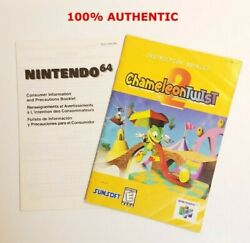 Nintendo 64 N64 Chameleon Twist 2 Instruction Booklet Manual Only No Game No Box
