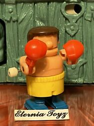 BUMBLING BOXING by TOMY { BROWN HAIR BOXER } Vintage Wind Up Figure