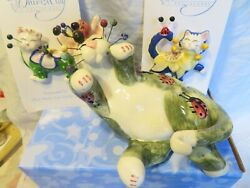 quot;Ladybugquot; very RARE vintage WhimsiClay Cat 2 free gift pins $25 value