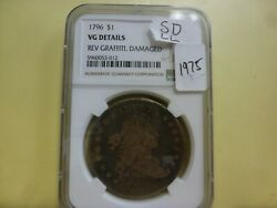 1796 Draped Bust Silver Dollar Ngc Vg Details Small Date Large Letters 012