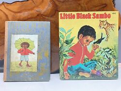 1920s 'little Blk Sambo' Black Wee Book For Wee Folks And Whitman's Hardcover 76