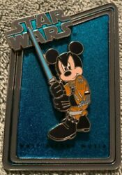 Disney 2011 Star Wars Weekends Statue And Pin Series Mickey Jedi Le 1977 Pin Only